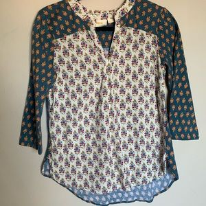 Tops - Anthropologie Multi-patterned Tunic